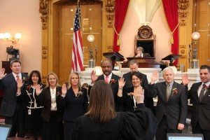 Nan Baker  (second from left) Takes Oath of Office