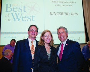 Peter Schindler and Linda Spencer of Community West Foundation were welcomed by Publisher Frank Bird as this year's Best of the West Presenting Sponsor.