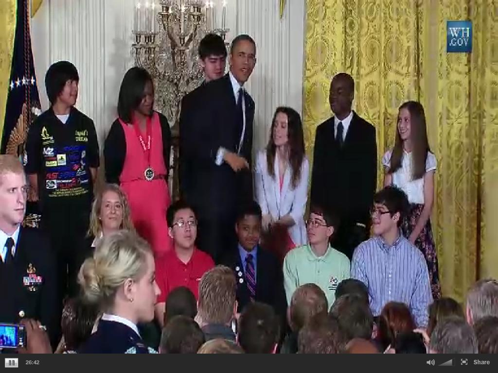 White House Engineering, Science and Technology Fair - Theodore Poulos 4-22-13