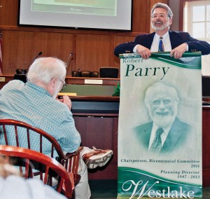 Banners around Westlake will soon commemorate Bob Parry's distinguished career.
