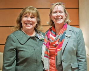 Joyce Foristell, Breast Health Coordinator at SJMC and Cathy Graham, MD, Medical Director of The Breast Health Center.