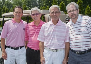 The team of Bob Colacarro, Dr. Robert Colacarro, Mike Sanson and Frank Colacarro won the afternoon flight with a score of 62.