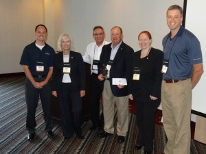 Pictured Left to Right: David Brown (WWR), Donna Holycross (Heartland), Bob Palmer (CBAO), Scott McComb (Heartland), Tami Vanderhoff (Heartland) and Cory Phillips (WWR).