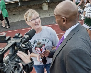 Tracey Cox, Jacob's mom, interviewed by Channel 19 after Friday's homecoming coronation.
