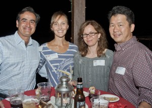 Mehrun K. Elyaderani, MD, and his wife, Melinda, with Michael Lew, MD and wife, Ann. The noted area orthopedic specialists enjoyed the evening in support of the Lake Erie Nature & Science Center.