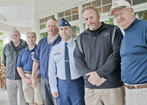 Dignitaries on hand at the USO Open included Avon Lake City Council President Martin O'Donnell, Bob Hope, Lt. Col. William Schlichtig, Bob Frantz and former Cleveland Brown Don Cockroft.