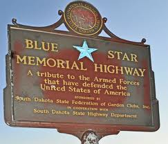 blue star memorial; logo images