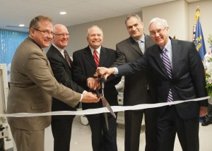 On hand to celebrate the new EMH Wound Care Center in Westlake were (from left) Program Director Ken Larissey, EMH president and CEO Dr. Donald Sheldon, Westlake Mayor Dennis Clough, Medical Director Dr. Habib Khoury and Premier Physicians Center CEO David Appel, Program Director Ken Larissey.