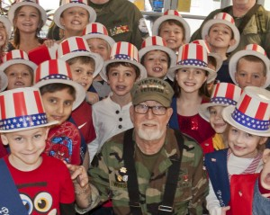 "Army Veteran Dick Whiskin was among the many veterans honored by Holly Lane Elementary School students as part of the ""On the Wings of Freedom"" Veteran's Day program."