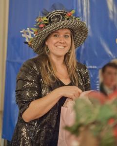Best hat winner Meghan Nelson.