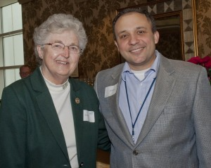 Sr. Judy Weirick, retired Vice President, and James E. Armour, current Vice President Mission and Ministry SJMC.