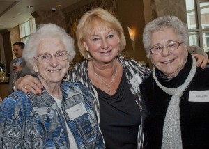 Marti Choban with Sr. Mildred Baker and Earline Andrey