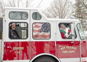 Santa's Fire Truck Ride is always a holiday hit in Bay Village!