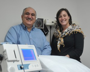 Dr. Sayed and Kristin Hoops, RN, SJMC medical missions leaders who travel to Jordan in support of Syrian civil war refugee victims.