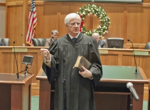 "The American Way…… Ohio Supreme Court Justice Terrence O'Donnell administered the oath of office to several Westlake City Council members in Westlake City Council Chambers the evening of Jan. 2. Justice O'Donnell reminded all in attendance of the importance of the smooth and peaceful transition of power to the American way of life. It is a tradition that represents an ideal to other nations worldwide. It speaks to values like civility and respect and that which is best about our country. ""We are the envy of the world,"" said Justice O'Donnell. ""We transfer power with an oath."""