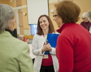 Danelle Boomer, RN, SJMC Stroke Coordinator, shared helpful health information with guests at last week's 'All About You' event for women.