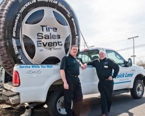 Pat Jordan, Service Director at both Nick Mayer locations, and Service Manager Nick Nunnari.