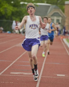 Avon's Austin Fasciana wrapped up his WSC career with a win in the 1600 (4:27).