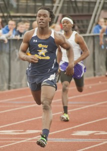 North Ridgeville football sensation Demario McCall captured both the 100 and 200 meter dashes and anchored the 400 meter relay victory for the Rangers.
