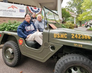 Sandy Bennett, Paul Rado, Bob Hope in one of the service on display at Sweetbriar in 2012.