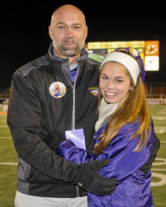 Mike Cooper and his daughter, Madison, a former Avon cheerleader.