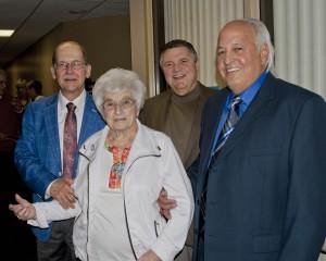 Taste of Friendship founder Dr. Mario Sertich, Marilyn Jenne, Premiere Sponsor, Mercy President Ed Oley and Steve Ross, President of Ross Builders, Premiere Sponsor.