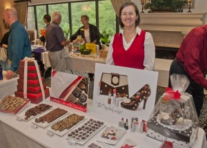 Sweet Designs Chocolatier enticed everyone with delicious samples.