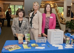 Mary Lou Spagnola, Christina Melaragno and Laura Stump of Gardens at Westlake welcomed guests.