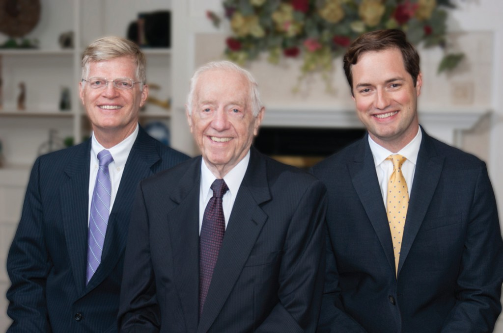 Pictured are John T., John, and David O'Neill