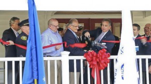 James Busch and Avon Lake Mayor Greg Zilka cut the ribbon.