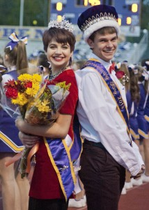 Avon High seniors Drew Dudukovich and Alexandria Darus were crowned homecoming King and Queen Friday night before the Eagles took on North Ridgeville.