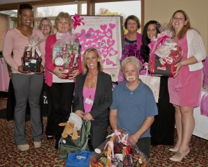 Participating in The Orchards of Westlake Breast Cancer Fundraiser held Oct. 30 were (Bottom row)  Kelli Meadows, Administrator and David Mitchell (Top Row L – R)  Mercedes Kirby, Heidi Hanton, Teresa Brown, Debbie Hary, Carrie Jovi and Danielle Kennedy.