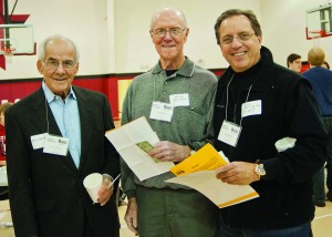 William Baker, Chair, Community West Foundation with Board Members, Henry Jacques and Christopher Harrington.