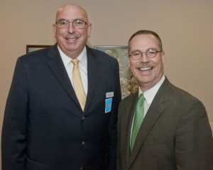 Mark Busch, Busch Funeral and Crematory Services,  with Dr. William G. 'Bill' Hoy.