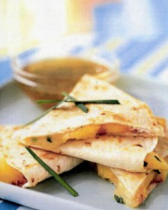 Peach & Brie Quesadillas