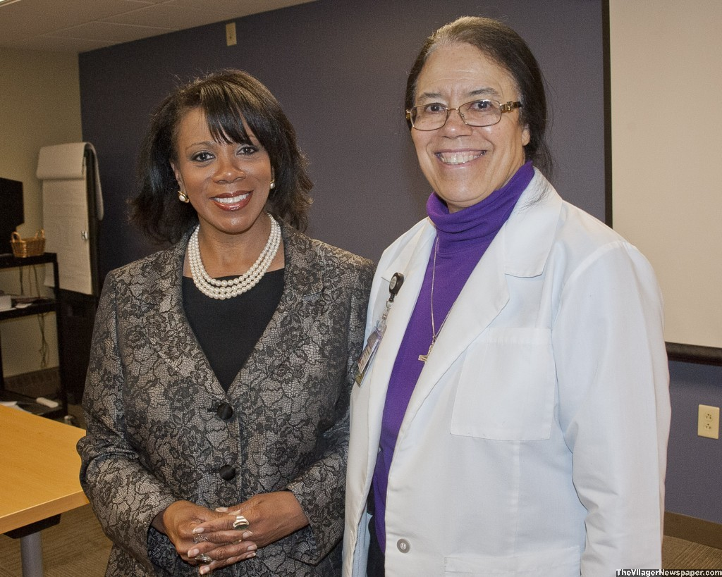 Georgette Jackson, Executive Director Joseph's Home, with Sr. Kendra Bottoms, SJMC Ministry team.