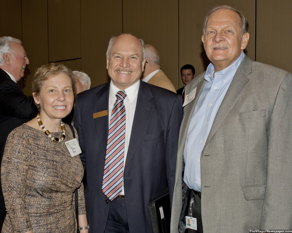Dr. Terri Pope, President Tri-C Westshore Campus, Mayor Dennis Clough and Ray Frank, Columbia Gas.