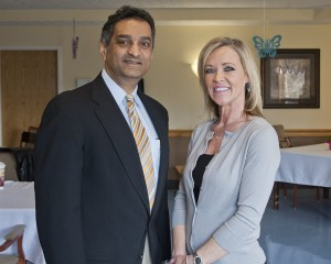 Kelli Meadows, Administrator, The Orchards of Westlake, welcomed SJMC cardiologist Atal Hulyalkar, MD, to a Heart Healthy Breakfast hosted by the Crocker Road Living and Rehab Center.
