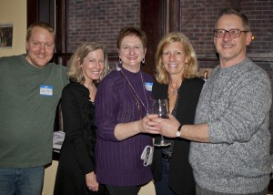 Community West Foundation staff Dan Roth, Chief Financial Officer, Linda Spencer, VP Administration, Communications and Marketing, Ginger Vaughn, Receptionist, Pat Kubene-Simacek, Special Events Coordinator and Peter Schindler, Senior Program Officer.