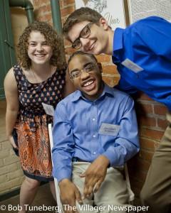 YC Volunteer Kendra Cundiff, YC Participant Jordan Williams and YC Volunteer Nick Morris