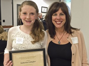 Katie Gallagher (left) withn Susan Peplin, Teacher at Dover Elementary