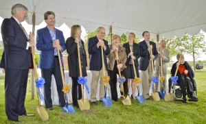 Lake Ridge Academy Ground Breaking: Robert Smith (Board President) Ed and Chann Spellman (Donor) John and Betty Kemper (Donor) Carol Klimas (President) Michael Shaulis (Head of Academics) Samir Nasr (Former Teacher), Mary Zinn (Former Teacher)