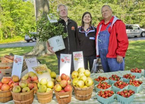 Matt Misencik of the Rock Pile with Avon Lake Farmer's Market founder Leanne Hoppe and Buster Woolfe of Woolfe Farms invite shoppers to try the best of the season each week at their locale at Avon Lake United Church of Christ each Tuesday from 3-7 p.m.