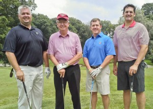 Tournament winners - Nathan Hessler joined Community West Foundation Board Members David Hessler, Pat Mulloy and Mike Romenello.