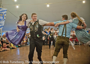 Swing Your Partner! Dancers at the Donauschawben Sommer Oktoberfest last weekend got into the swing of things Friday night as beer, polka music and great German food highlighted perfect summer evenings at the Olmsted Falls German-American Cultural Center.
