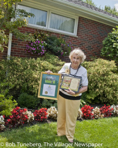 Rita Briggs and her award winning Best of Bloom yard. Rita was a six time Westlake in Bloom category winner before taking this year's Lu Walter Award for Best in Bloom.