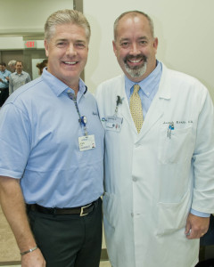 John Kahl, chief executive officer for ShurTech Brands and Dr. Joseph Knapp, Cleveland Clinic physician and medical director of the employee health clinic.