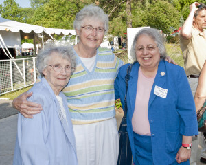 Sr. Mary Patricia Barrett, Sr. Judy Weirick and Sr. Judith Ann Karam at SJMC two years ago.