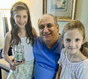 Dr. Eiad Sayed with Emma and Sophia Altomare Yanasak