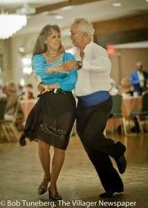 Dancers Willie Davilla and Monica Adipietro at the Lorain Big Band Dance.